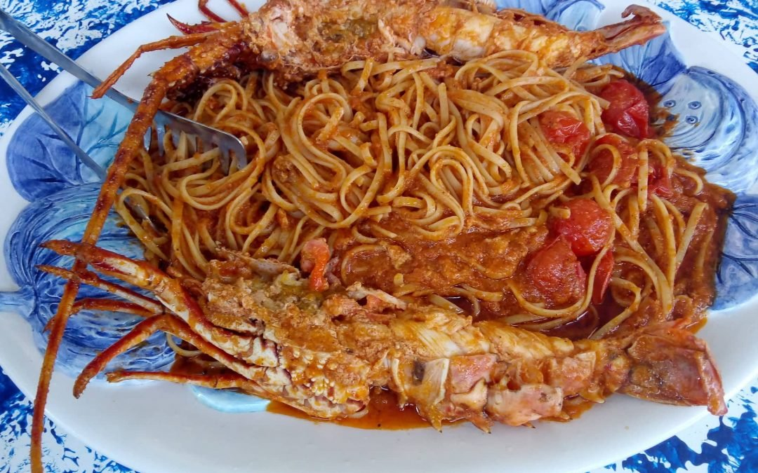 Pasta with fresh lobster