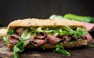 Vitello Tonnato Sandwich by chef Alexander Synagri.